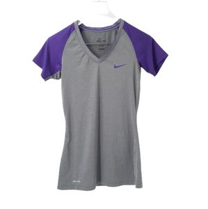 Nike Dri-Fit Team Pro Fitted V-Neck Shirt Tee Short Sleeves Workout Gym Running